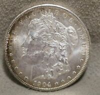 1904-O $1 MORGAN SILVER DOLLAR COIN AU BU ABOUT UNCIRCULATED UNCIRC US MINT