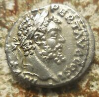 ABOUT EF FOR TYPE  SEPTIMIUS SEVERUS AR DENARIUS 194 195AD MONETA HOLDING SCALES