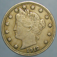 1912 LIBERTY NICKEL   ORIGINAL ABOUT LY FINE