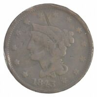 BETTER 1843 BRAIDED HAIR US LARGE CENT PENNY COIN COLLECTION