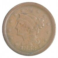 BETTER 1853 BRAIDED HAIR US LARGE CENT PENNY COIN COLLECTION