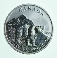BETTER   2011 CANADA 5 DOLLARS   1 OZ. SILVER GRIZZLY BEAR
