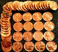 1 1957 LINCOLN WHEAT CENT RED GEM PROOF ROLL  50 COINS
