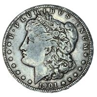 1901-O MORGAN SILVER DOLLAR, VF