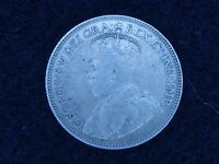 BS 62: CANADA NEW FOUNDLAND SILVER 25 CENTS DATED 1919 C NIC