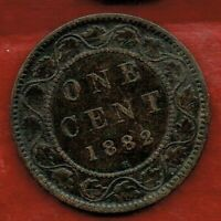 CANADA  ONE CENT 1882H   QUEEN VICTORIA   MINTAGE 4 000 000