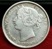 1862 NEW FOUNDLAND 20 CENTS SILVER COIN