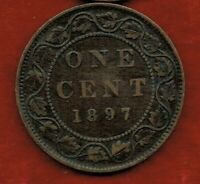 CANADA  ONE CENT 1897    VICTORIA.  MINTAGE 2 000 000