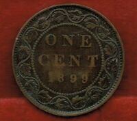 CANADA  ONE CENT 1899    VICTORIA.  MINTAGE 2 400 000