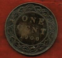 CANADA  ONE CENT 1900 'NO H '    VICTORIA.  MINTAGE 1 000 00