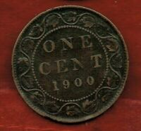 CANADA  ONE CENT 1900 'H '    VICTORIA.  MINTAGE 2 600 000