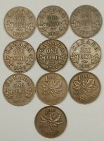 1927   1939 CANADIAN SMALL CENT LOT MIXED DATES COLLECTION P