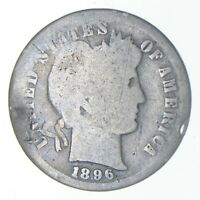 1896 S BARBER DIME   CHARLES COIN COLLECTION  810