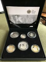 THE 2009 UK FAMILY SILVER PROOF COLLECTION KEW GARDENS 50P