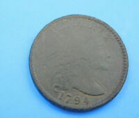 1794 S 67  HEAD OF 95 LIBERTY CAP LARGE CENT COIN 1C  C15/95
