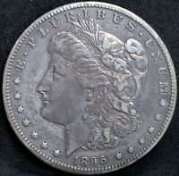 1895 S MORGAN SILVER DOLLAR VFEXTRA FINE  DETAILS KEY DATE SAN FRANCISCO MINT COIN