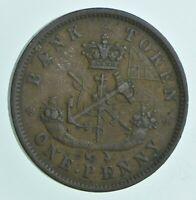 1850 UPPER CANADA 1 PENNY   WALKER COIN COLLECTION  445