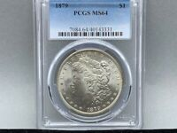 1879-P PCGS MINT STATE 64 MORGAN SILVER DOLLAR PREMIUM COIN  STRIKE  AND LUSTER