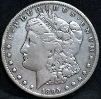 1895 S MORGAN SILVER DOLLAR F DETAILS KEY DATE SAN FRANCISCO MINT COIN