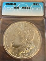 1900-O BEAUTIFUL NEW ORLEANS MINTED ICG MINT STATE 63 MORGAN SILVER DOLLAR