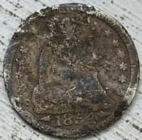 1854 SEATED HALF DIME FAIR COIN