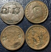 4 COUNTER STAMP HALF CENTS 1804 DRAPED BUST 1832 CLASSIC 185