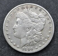 1896-O MORGAN SILVER DOLLAR AN HONEST UNGRADED COIN WITH FREE U.S. SHIPPING