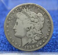 1892 CC MORGAN SILVER DOLLAR $1  GOOD VG MR506