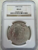 1900 O SILVER MORGAN DOLLAR NGC MINT STATE 63