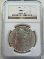 1901 O SILVER MORGAN DOLLAR NGC MINT STATE 63