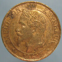 1861 A NAPOLEON III 5 CENTIMES   UNCIRCULATED DETAILS   CLEANED