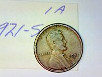 1921 S LINCOLN WHEAT CENT LOT 1A