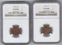 1931S VF 25BN-1910 S VF 30 BN  LINCOLN  WHEAT CENTS NGC GRADED  SHIPS FREE
