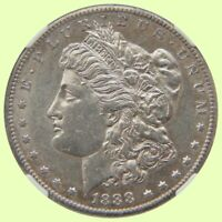1888-S MORGAN SILVER DOLLAR KEY DATE | NGC AU DETAILS -CLEANED-