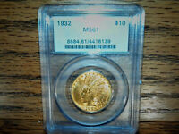 1932 PCGS MS61 $10 INDIAN GOLD COIN
