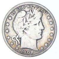 BETTER COIN 1908 S BARBER HALF DOLLAR   LOOK IT UP   288