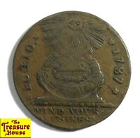 1787 UNITED STATES FUGIO CENT MIND YOUR BUSINESS / WE ARE ONE COPPER COIN 4 CINQ