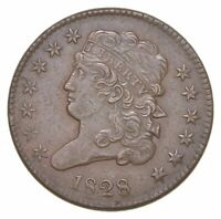 1828 CLASSIC HEAD HALF CENT   CHARLES COIN COLLECTION  713