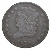 1826 CLASSIC HEAD HALF CENT   CHARLES COIN COLLECTION  105