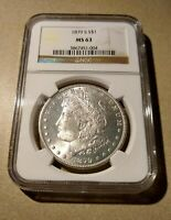 NGC MINT STATE 63 1879 S MORGAN SILVER ONE DOLLAR S$1 UNCIRCULATED COIN SHIPS FREE