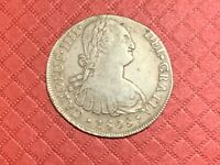 1808 8 REALES PILLAR SILVER DOLLAR ME LIMA MINT NICE COIN