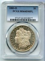 1883-O MORGAN SILVER DOLLAR PCGS MINT STATE 64 DMPL CERTIFIED - NEW ORLEANS MINT - RX829