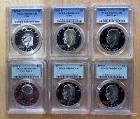 1973-S TO 1978-S $1 EISENHOWER DOLLAR PCGS DCAM69 6 COIN CLAD PROOF SET