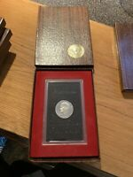 1971 S EISENHOWER 40 SILVER DOLLAR PROOF COIN IN BROWN BOX