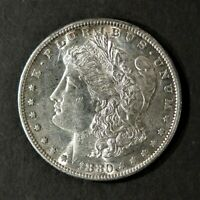 1880-S MORGAN SILVER DOLLAR -  UNC COIN W/LUSTER & SOME MIRRORING
