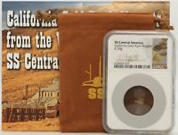 SS CENTRAL AMERICA CALIFORNIA GOLD RUSH NUGGET SHIPWRECK NGC CERTIFIED - JJ490