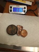 1.05 LBS COPPER INGOTS HAND POURED