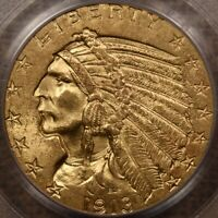1913 $5 GOLD INDIAN HALF EAGLE PCGS MS63 CAC EXCEPTIONAL  DAVIDKAHNCOINS