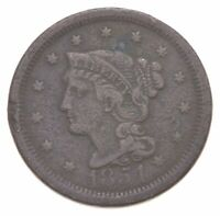 1854 BRAIDED HAIR LARGE CENT   CHARLES COIN COLLECTION  894