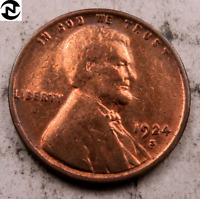 1924-S LINCOLN WHEAT CENT CENT // CHOICE AU RED // W629